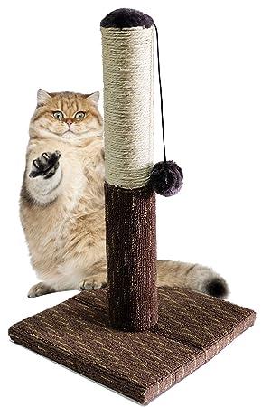 BPS Rascador Gato Juguete para Gatos con Bola Materiales Rugoso Accesorio Ideal para Afile Las Uñas Tamaño 30 * 30 * 54 cm (Gris) BPS-3197GR: Amazon.es: ...