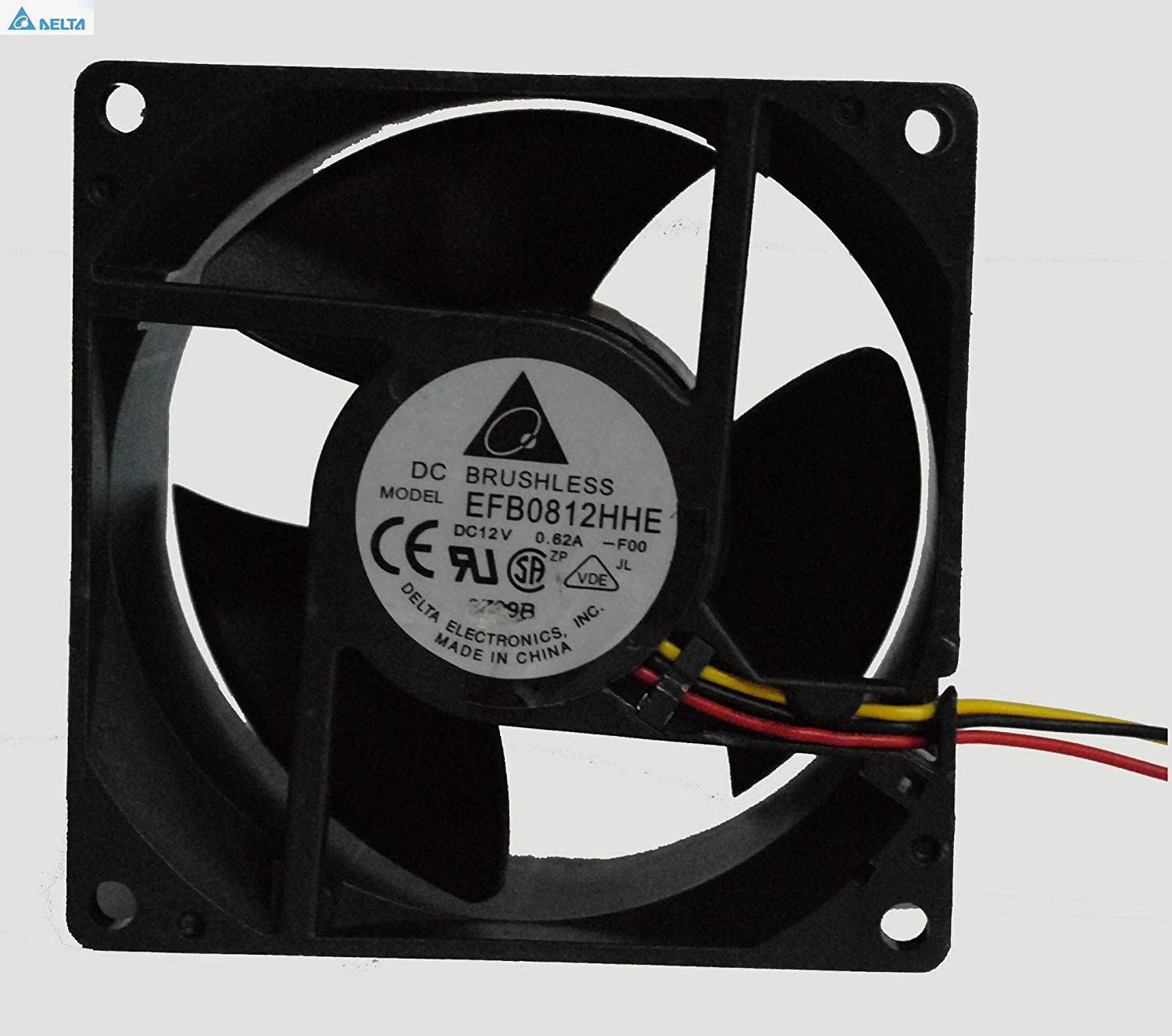 for delta cooling fan EFB0812HHE F00 8CM 808038MM 8038 12v 0.62a dual ball