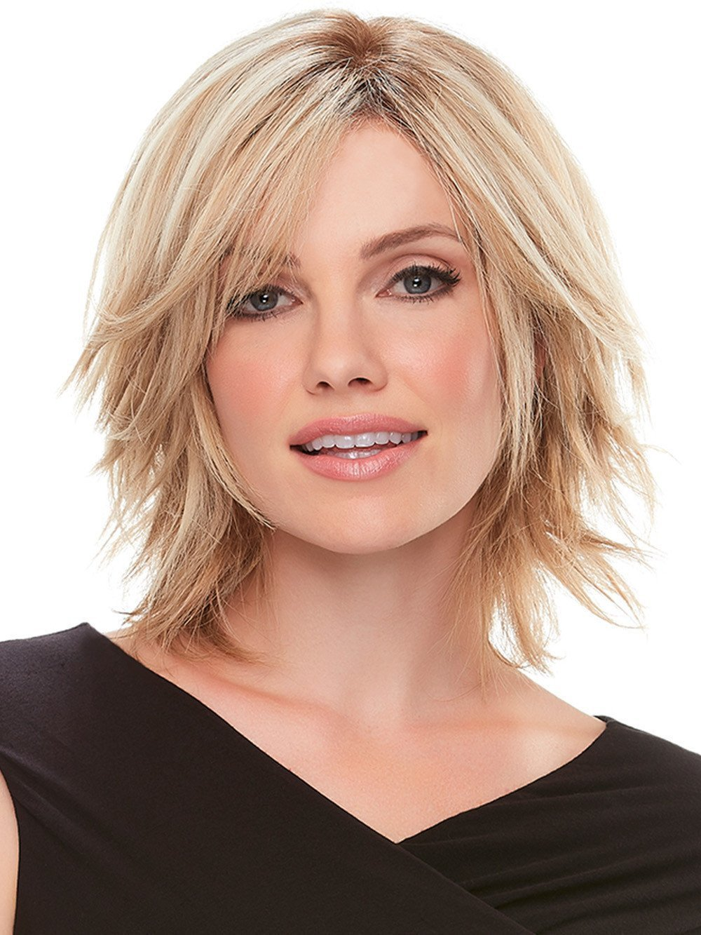 "Top Form 6-8"" Long Color 6RN Dark Brown - Jon Renau Wigs Remy Human Hair Topper Women's Clip In Integrated Top Piece"