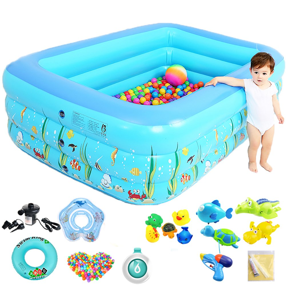 KLWJ Increase the lengthening of the inflatable bathtub, Adult thickening tub, Folding bath barrel, Plastic bath barrel, Bathing bath barrel-A by KLWJ
