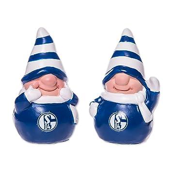 Schalke Bilder Weihnachten.S04 Fc Schalke 04 Wichtel 2er Set Weihnachten Figur Amazon De