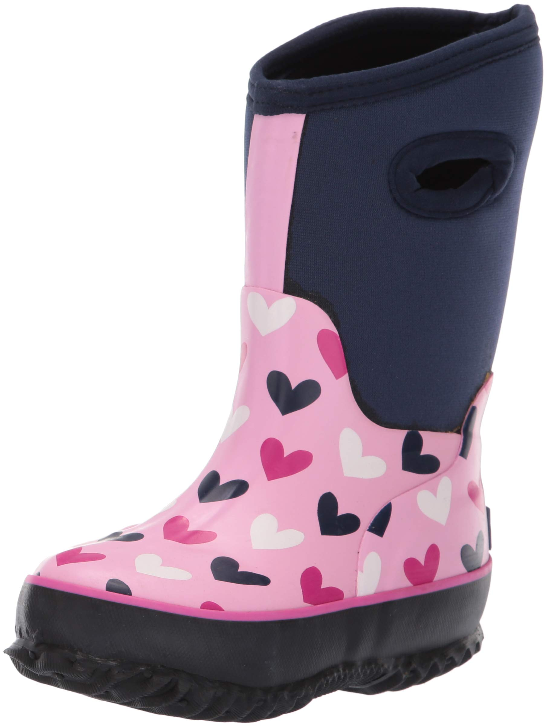 Hatley Girls' Big Neoprene Boots, Multi Hearts, 3 US by Hatley