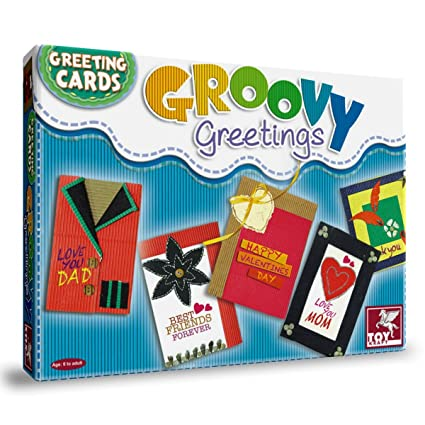 Toy Kraft Groovy Greeting Cards Multi Color