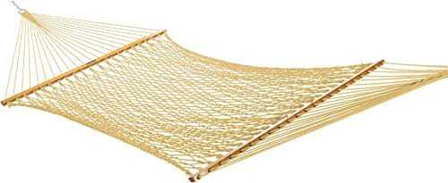 Original Pawleys Island 13DCTAN Large Duracord Rope Hammock