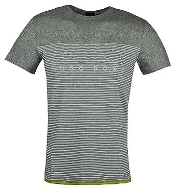 46383f999 Amazon.com: Hugo Boss Teep 11 Mens Slim fit Striped t-Shirt 50384082 ...