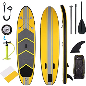 Durable inflatable paddle board for fishing