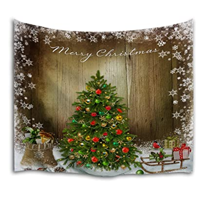 Qiyi Home Wall Hanging Nature Art Fabric Tapestry Christmas Dorm Room Bedroom Decorations 90 L X 60 W 229cmx153cm The Christmas Tree 1