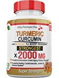 Super Strength 2000mg - Turmeric Curcumin with BioPerine (Black Pepper) Extract. 120 Fast Acting Pills - Natural Anti-inflammatory Supplement to Support The Reduction of Joint Pain & Inflammation.
