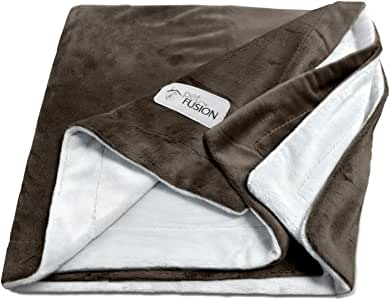 PetFusion Premium Pet Blanket, Multiple Sizes for Dogs & Cats. [Reversible Micro Plush]. 100% Soft