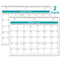 2 Pack Monthly Wall/Desk Calendar 8.5 x 11 Inches Deals
