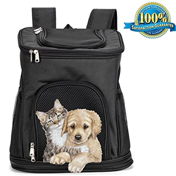 Aoxsen Chien Chat Chiot de transport Pet Big Pet Sac à dos double Sac à  bandoulière 054ca617776f