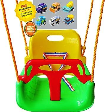 Littlefun - Set de columpio 3 en 1 para pasar de bebé a niño pequeño, para jardín, patio, interior y exterior: Amazon.es: Juguetes y juegos