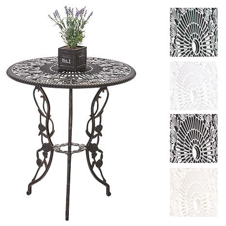 CLP Table de Jardin Ganesha en Fonte d\'Aluminium - Table Ronde Ø 66 ...