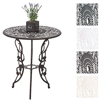 CLP Table de Jardin Ganesha en Fonte d\'Aluminium - Table Ronde Ø 66 ...