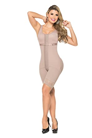 056312d62e1 FAJAS GAMA ALTA 0309 - Oro - Womens Powernet Body Shaper Colombiana at Amazon  Women's Clothing store: