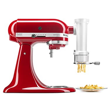KitchenAid KSMPEXTA Gourmet Pasta Press Attachment with 6 Interchangeable Pasta Plates, White