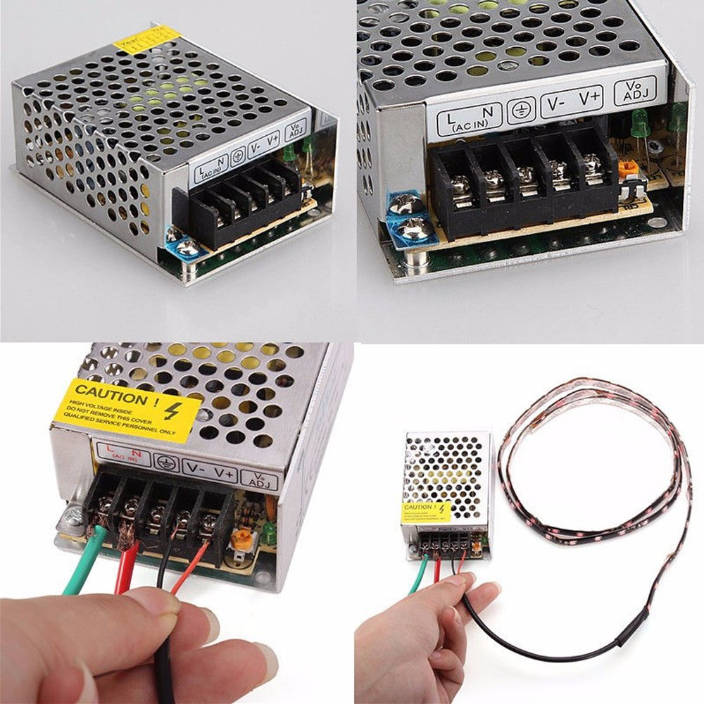 Etopar Universal 12V 10A 120W Switching Power Supply Driver Regulated Converter Transformer Switch AC to DC for LED Light Strip 3528 5050