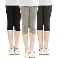 Adorel Leggings 3/4 Cortos Algodón Pantalón Niña Pack de 3