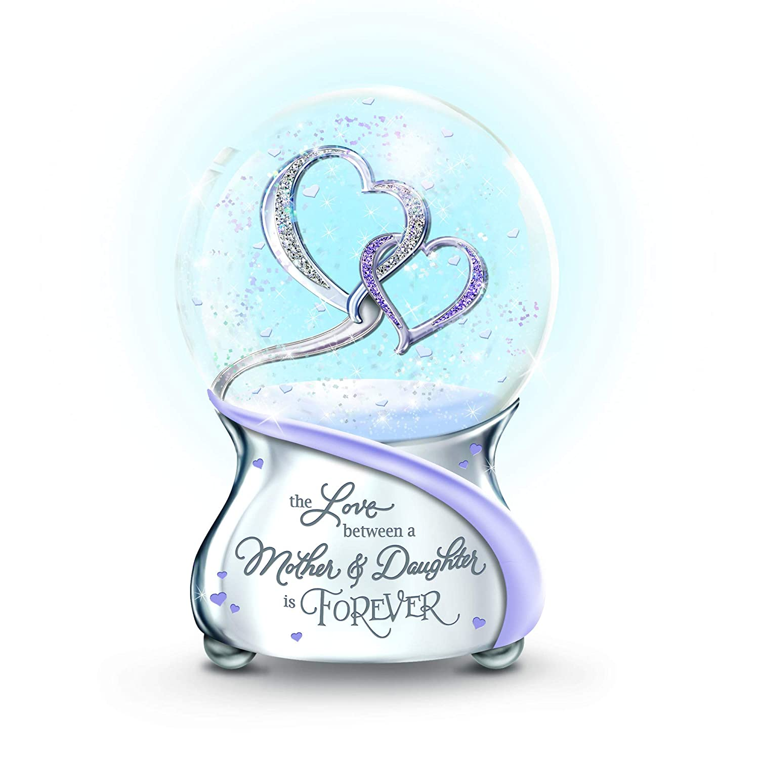 The Bradford Exchange 'Love Between Mother And Daughter Is Forever' Glitter Globe – Musical glitter globe for daughter from mother. Plays: 'Always In My Heart
