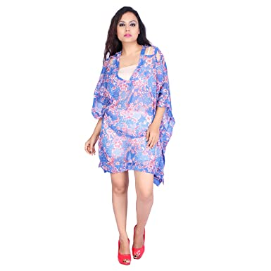29d51601ce Image Unavailable. Image not available for. Color: Sunrose Floraled Plus  size Kaftan Beach Cover Up