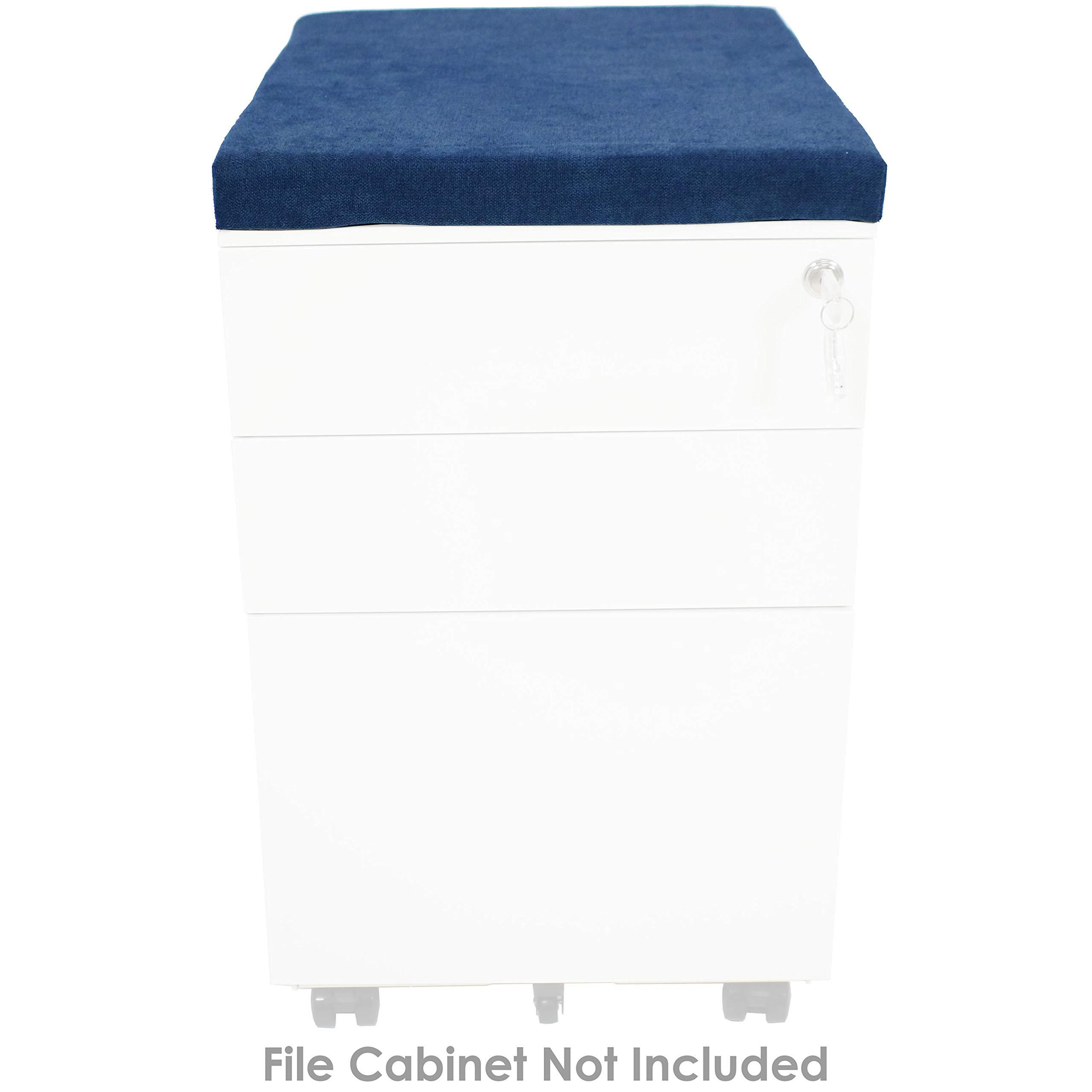 CASL Brands File Cabinet Cushion Seat Top for Mobile Pedestals, Magnetic Back, Blue by CASL Brands (Image #5)