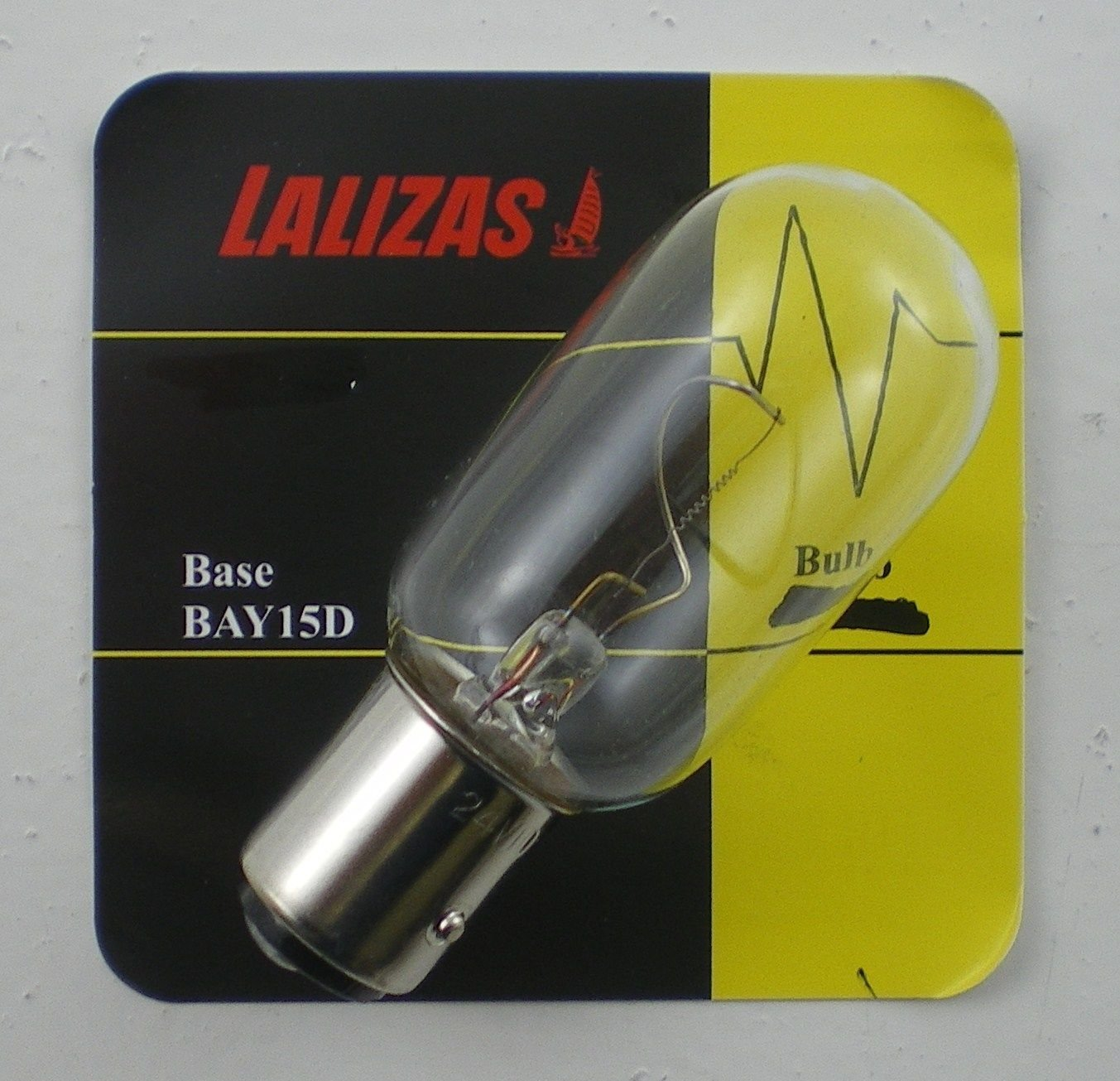 LALIZAS Bay 15D Base Marine Navigation Light Bulb 12v//24v 10w//25w