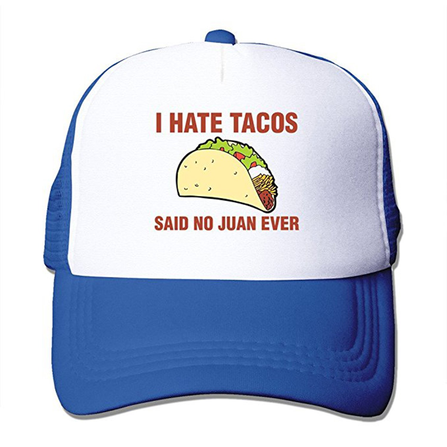 3ead27d1f353f ZMvise I Hate Tacos Said No Juan Ever Funny Gift Trucker Hat Street Dancing  Baseball Cap (Black) at Amazon Men's Clothing store: