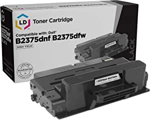 LD Compatible Toner Cartridge Replacement for Dell B2375 593-BBBJ (Black)