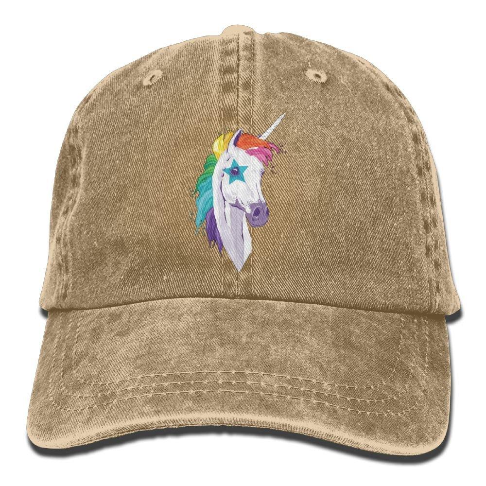 Trableade Colourful Horses Unisex Sport Adjustable Structured Baseball Cowboy Hat