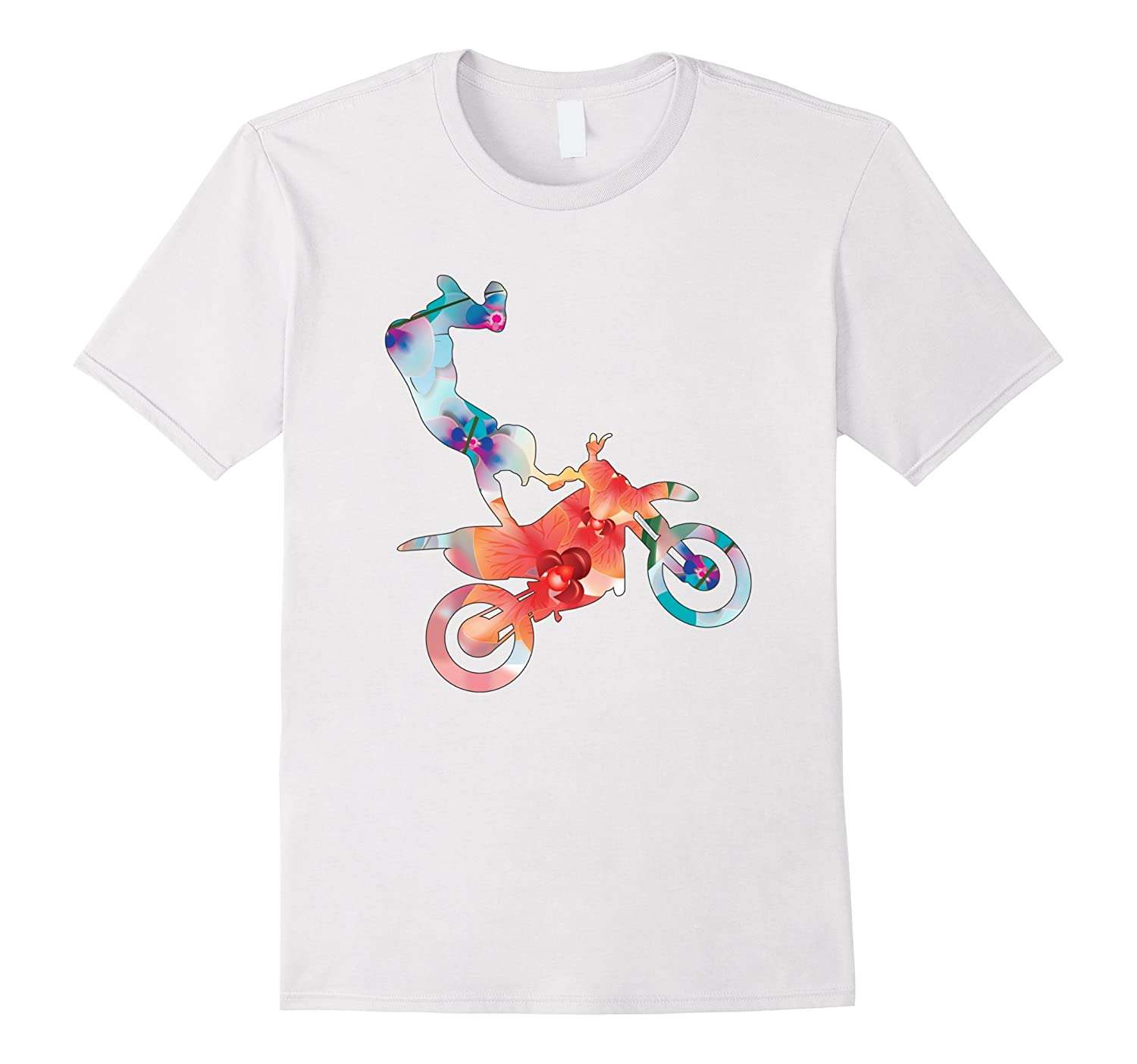 Funny Dirt Bike Shirts Bicycle Motocross Orchids T Shirt Diy