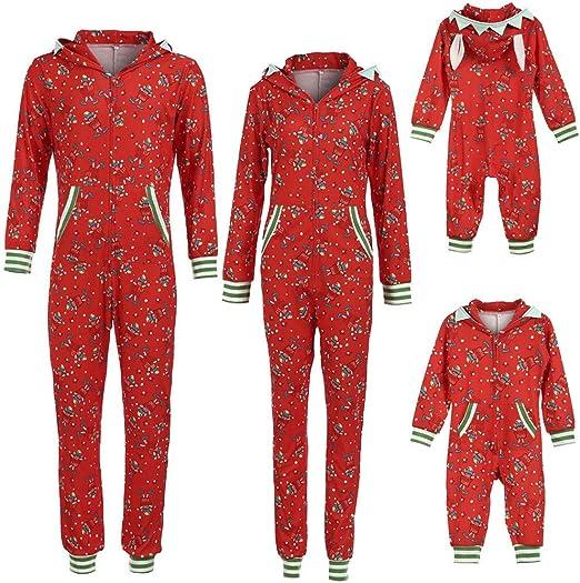 Baby Kids Boy Girl Christmas Xmas Casual Pajamas Jumpsuit Sets Outfits Sleepwear