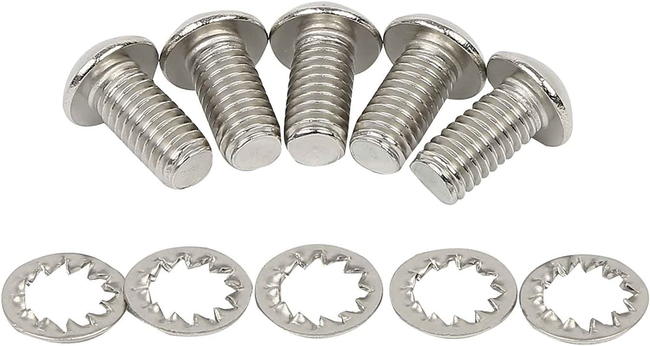 Mounting Bolts for Front Rotor of Harley Bagger Softail 5//16-18 X 3//4 Set of 5