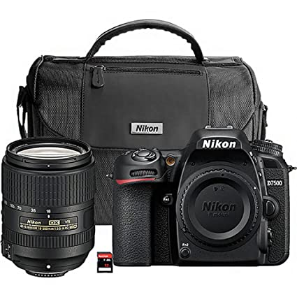Nikon D7500 20 9MP DSLR Camera with AF-S DX NIKKOR 18-300mm f/3 5-6 3G ED  VR Lens, Black
