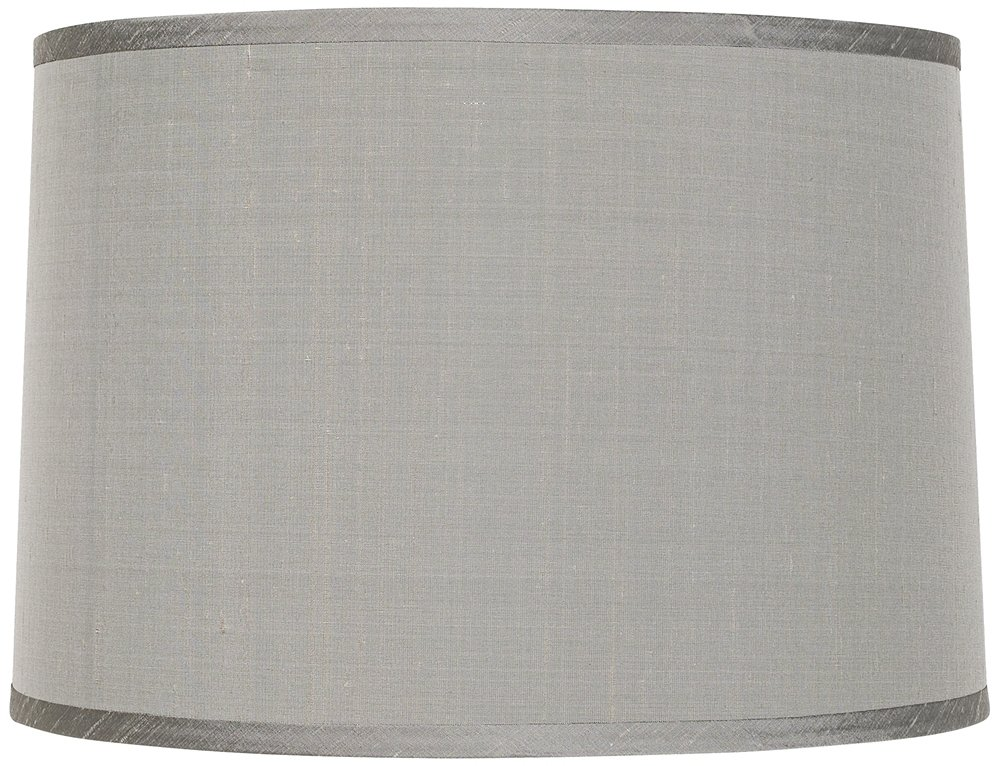 Platinum Gray Dupioni Lamp Shade 15x16x11 (Spider) - Lampshades ...