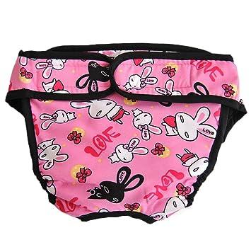 Ylen Lavable Perra Pantalones Sanitarios Mascotas Fisiológicas Bragas Higiénicas Pañales para Perros de Mediano Grande: Amazon.es: Productos para mascotas