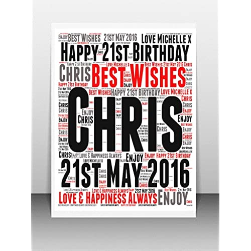 Personalised 21st Birthday Cards Amazon