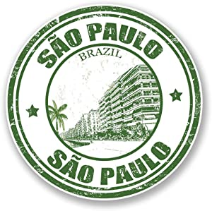 "Sao Paulo Brazil Vinyl Sticker Decal Laptop Car Bumper Sticker Travel Luggage Car iPad Sign Fun 5"""