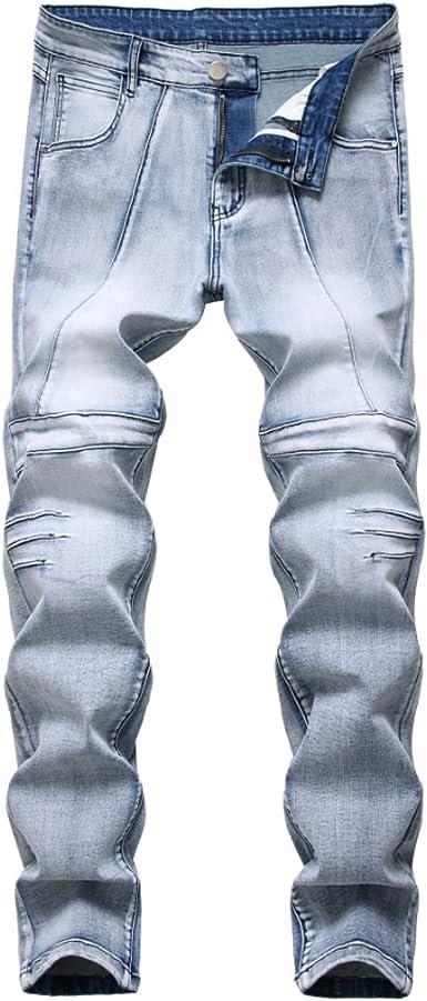 Pantalones Vaqueros para Hombre con Pliegues Locomotora Color ...