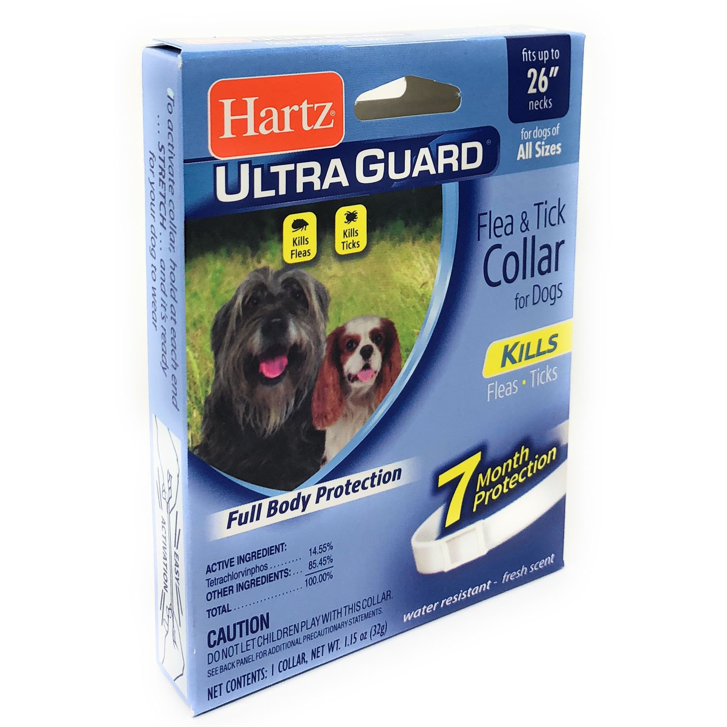 Large Dog Flea and Tick Collar Water Resistant 7 Months Full Body Protection