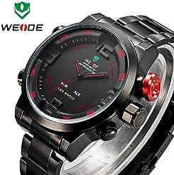 LNTGO 2015 Brand Weide 2309 Watches Men Quartz Wristwatch Military Diving 30M Digital Led Display Watch