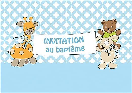 Francés Joven Bebé Tarjeta Como Bautizo Invitación Tarjeta