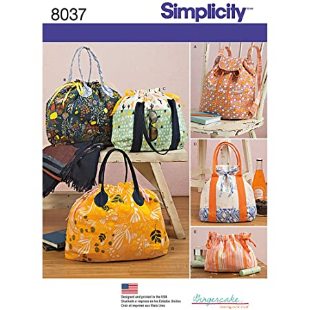 Simplicity 8037OS Backpack Totes and Cosmetic Bag Sewing Pattern ...