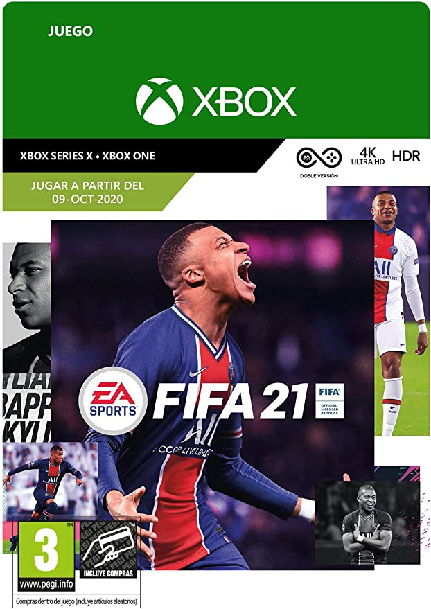 FIFA 21 Standard (Pre-Purchase) | Xbox - Código de descarga: Amazon.es: Videojuegos