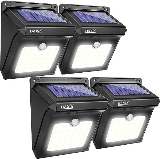 BAXiA Luz Solar Jardín, Luces Solares LED Exterior Impermeable ...