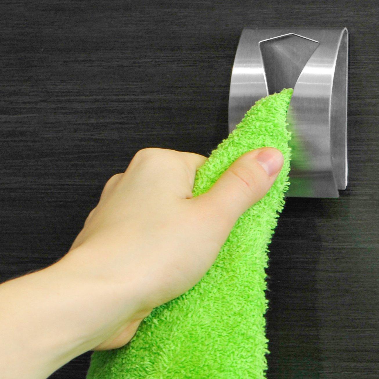 Tatkraft iris porta asciugamano adesivo acciaio inox: amazon.it ...