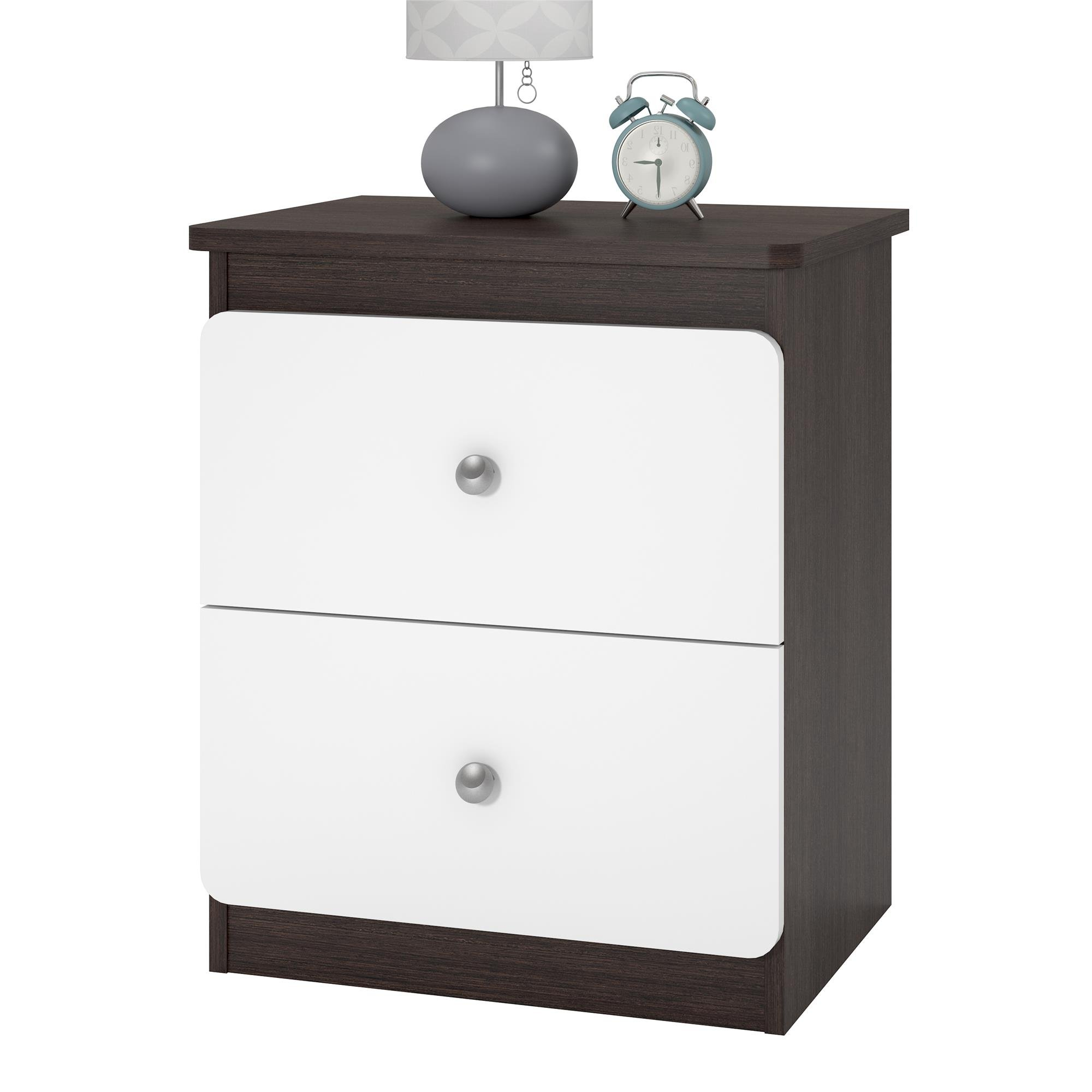 Ameriwood Home 5953216COM Willow Nightstand, Espresso/White