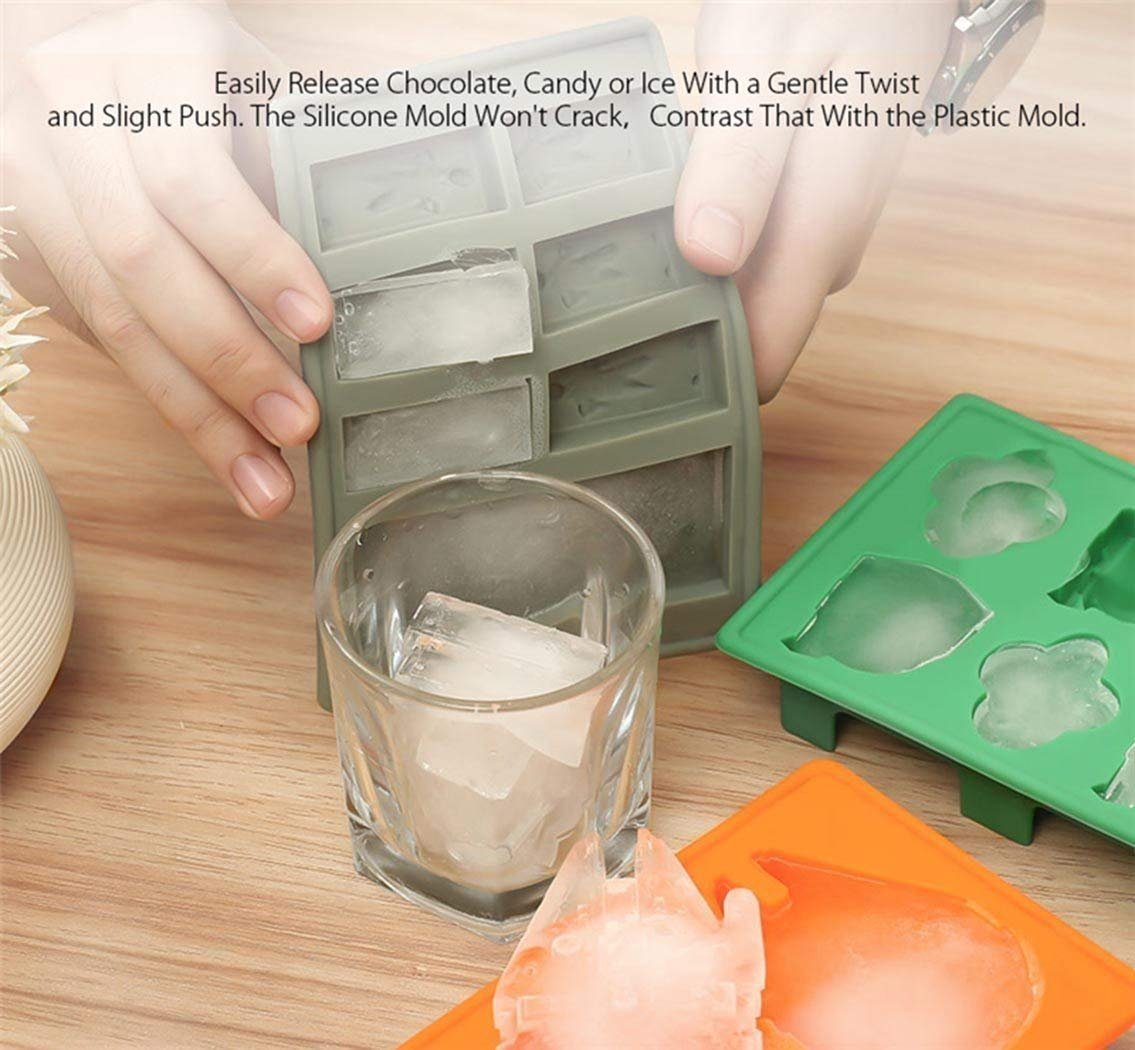 Sunerly Silicone Ice Tray Molds in Star Wars Character Shapes Ideal for Chocolate Ice Cubes Trays