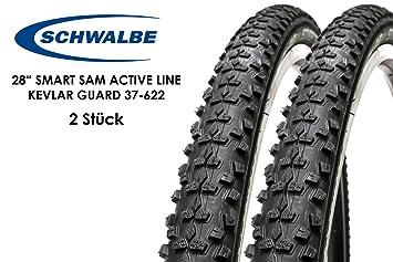 2 unidades 28 pulgadas Schwalbe Smart Sam – Cubiertas para bicicleta (28 x .