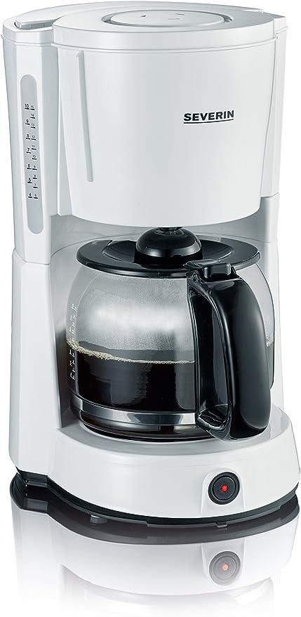 SEVERIN KA 4478 Cafetera para filtros de Caf/é Molido 10 tazas incluye jarra de cristal blanco