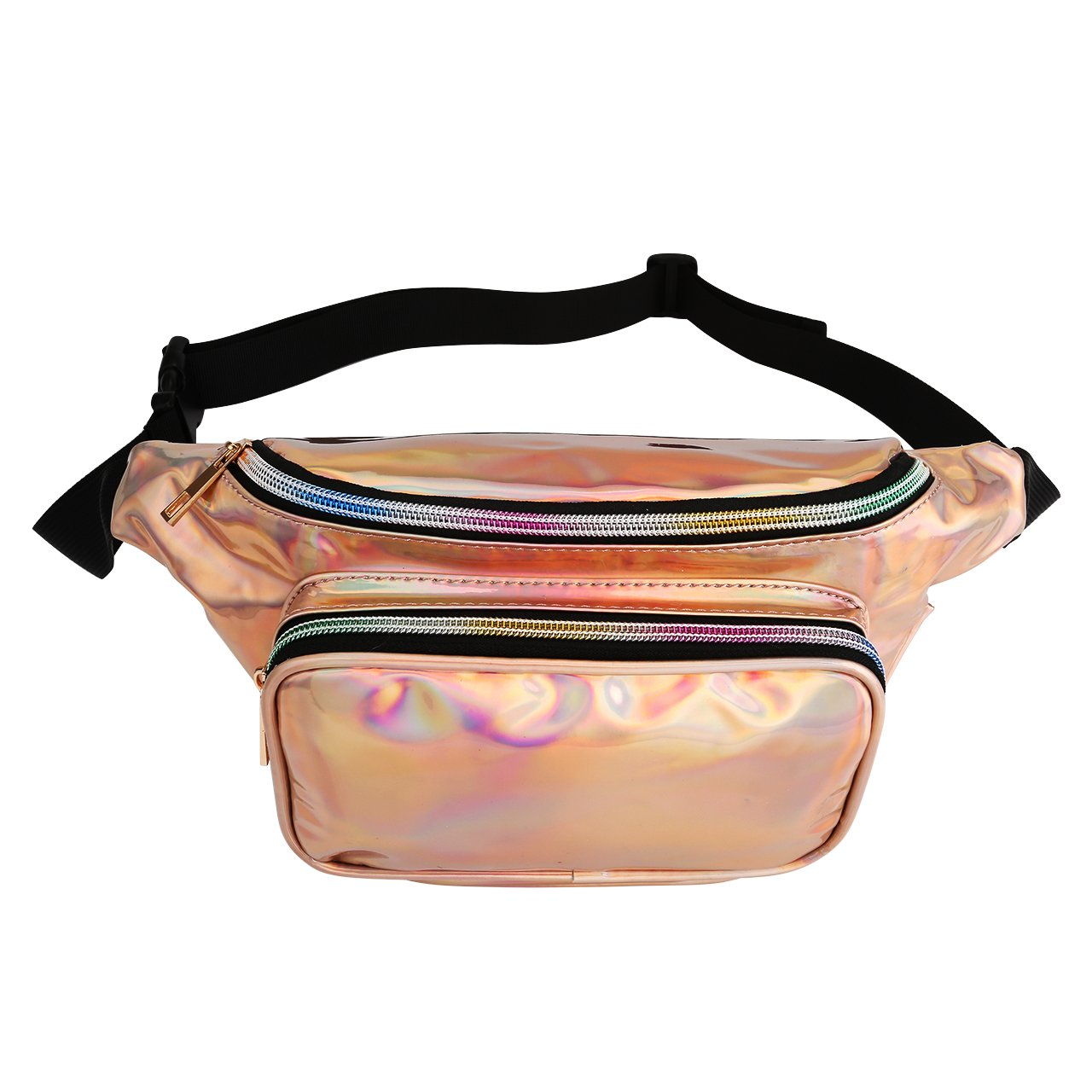 Ayliss Laser Fanny Pack Waist Bag Hologram Bum Bag Waterproof Beach Bag,Champagne